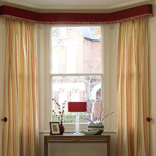 17 best images about bay and window treatments on for Contemporary window treatments for bay windows