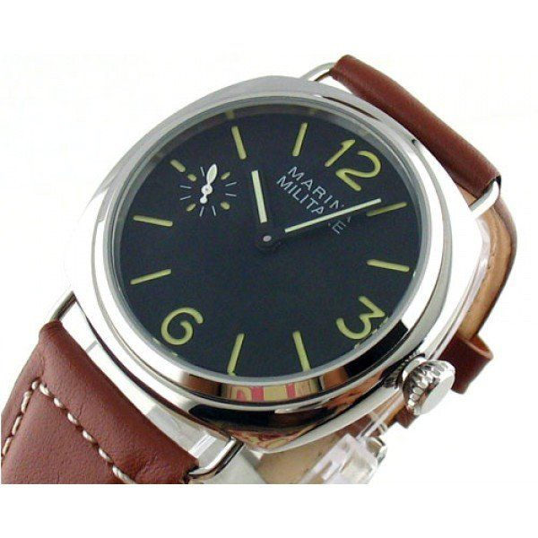 Parnis 45mm Marina Militare Black Dial Seagull Handwind 6497 Movement