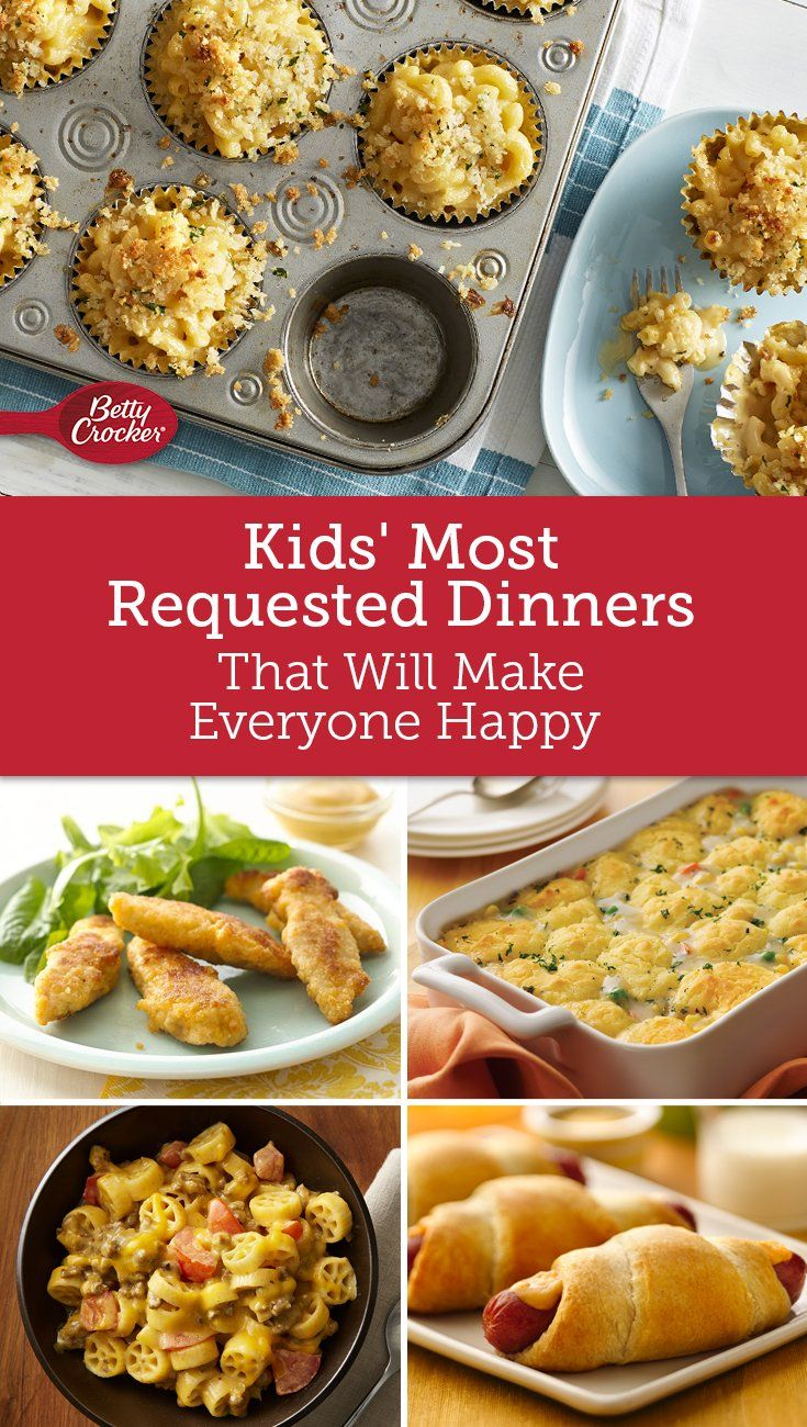 Kids Most Requested Dinners Baby Food Recipes Food Cooking