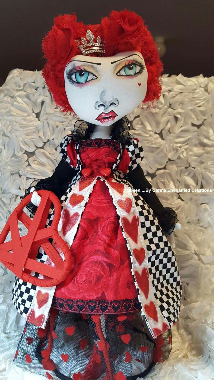 Queen by carma enchanted dolls  .  She will be at liverpool doll fair this weekend
