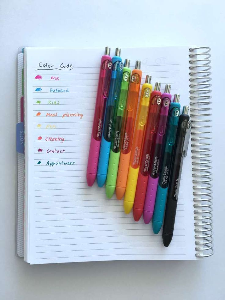 how to color code your planner how to choose colors for color coding planning time plan with me challenge rainbow system effective bujo bullet journal http://www.allaboutthehouseprintablesblog.com/50-category-ideas-for-color-coding-your-planner/