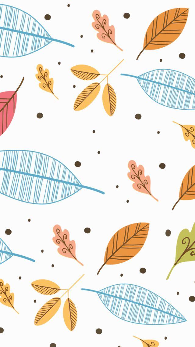 Autumn fall leaves iphone wallpaper phone background lock screen