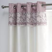 Good Dusky Pink Chinoiserie Thermal Eyelet Curtains From Dunelm