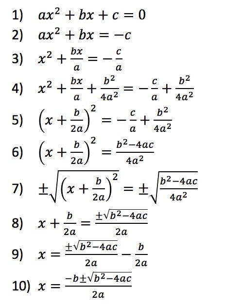 quadratic formula proof - Google 검색