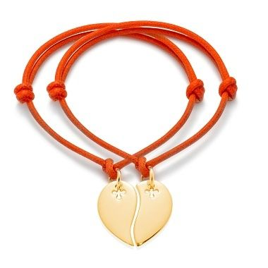 A heart to share 38£ #love #heart #share #bff #orange #bracelet #present #christmas #jewellery