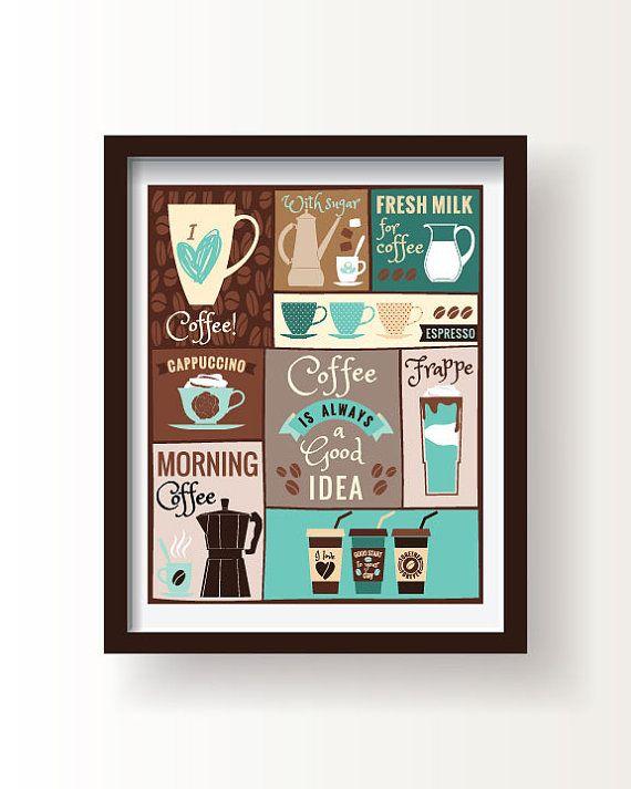 die besten 25+ kaffee poster ideen auf pinterest | zeit für kaffee ... - Poster Für Die Küche