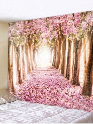 57e310e514 Flower Trees Avenue Print Tapestry Wall Hanging Decoration
