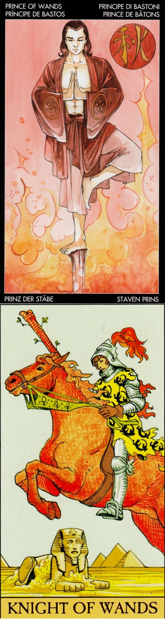 Knight of Wands: passionate pursuit of a vision and recklessness (reverse). Manga Tarot deck and AfterTarot Tarot deck: my tarot, one card tarot reading and tarot reading love free accurate.