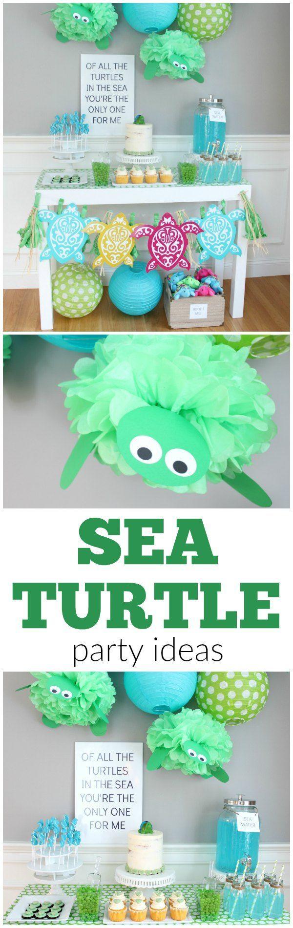 Sea Turtle Birthday Party Ideas