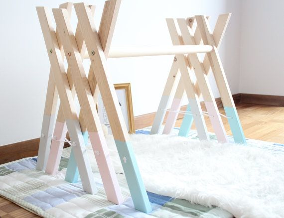 Hey, I found this really awesome Etsy listing at https://www.etsy.com/listing/490511337/baby-wooden-gym-stylish-nursery-decor
