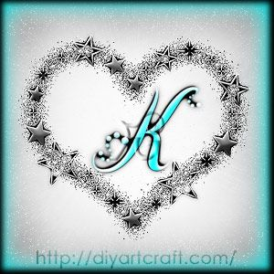 K Letter With Heart Images Letter k, Heart tattoos and Letters on Pinterest
