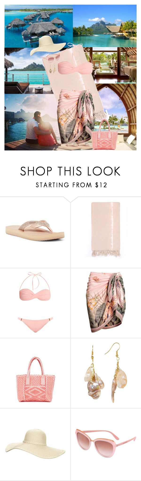 """""""Four Seasons Resort Bora Bora, French Polynesia"""" by horcal ❤ liked on Polyvore featuring Bora Bora, Reef, Turkish-T, Melissa Odabash, Antonello, Kenneth Jay Lane, Reger by Janet Reger and Dolce&Gabbana"""