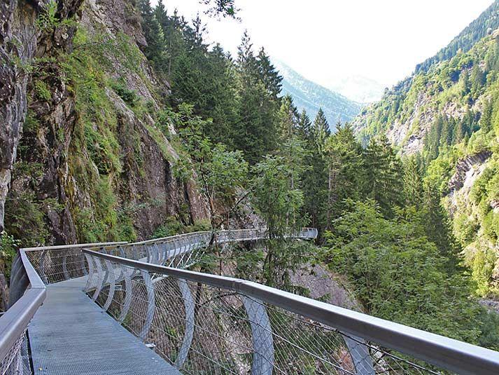 Passerschluchtenweg in Passeier (leicht bis mittel)