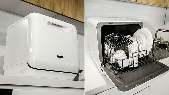 This Compact Dishwasher Is Perfect For Small Spaces Spot Ph If You Re A Lot Like Us You Probablylooove Eatingf Compact Dishwasher Mini Dishwasher Small Spaces