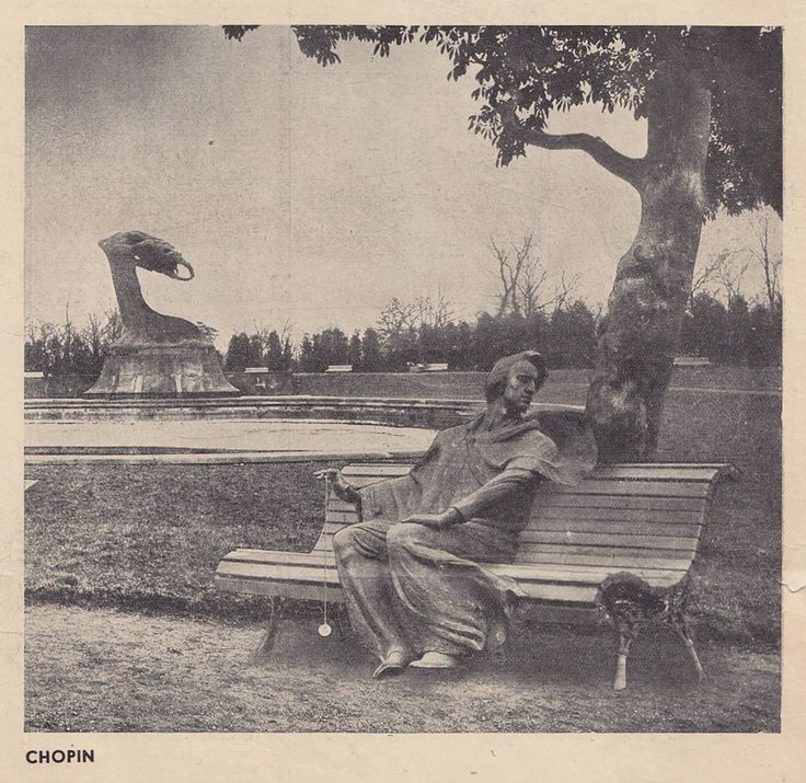 """Breathing space. Chopin"" - photomontage by Levitt-Him from ""Wiadomości Literackie"" (12.04.1936). #Chopin"
