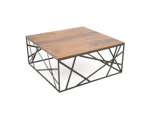 Table basse bois métal méli-mélo Sasque