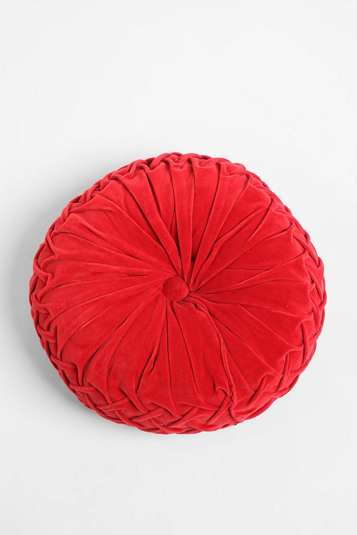 Red Pintuck Pillow from Urban Outfitters