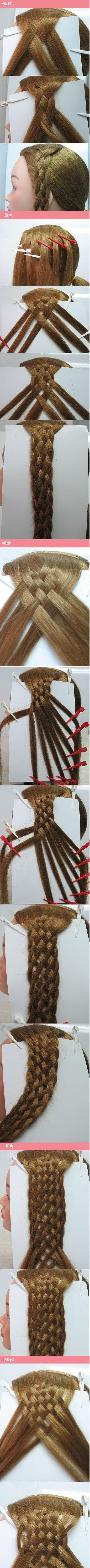 Great visual of how some of the multi-strand braids of the early middle 1800s work. Awesome!