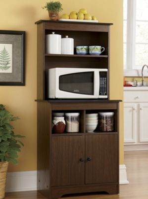 Haley Microwave Stand with Hutch