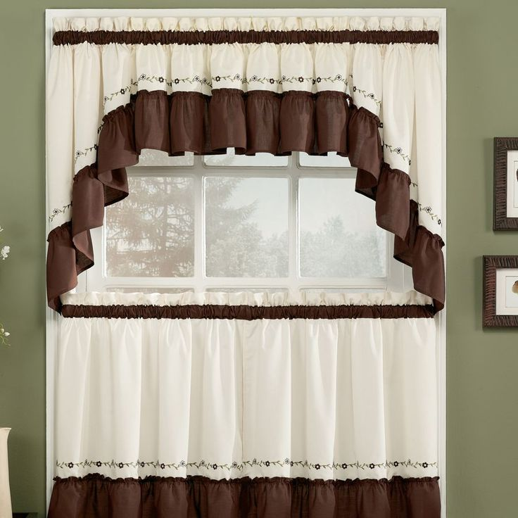 Best 25 brown kitchen curtains ideas on pinterest for Kitchen valance ideas pinterest
