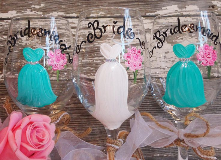 Rustic Wine Glasses, PICK Your COLORS! Hand Painted Bridesmaid Wine Glasses, Mason Rustic Bridesmaid Wine Glasses, Rustic Wedding, Mason Jar by samdesigns22 on Etsy