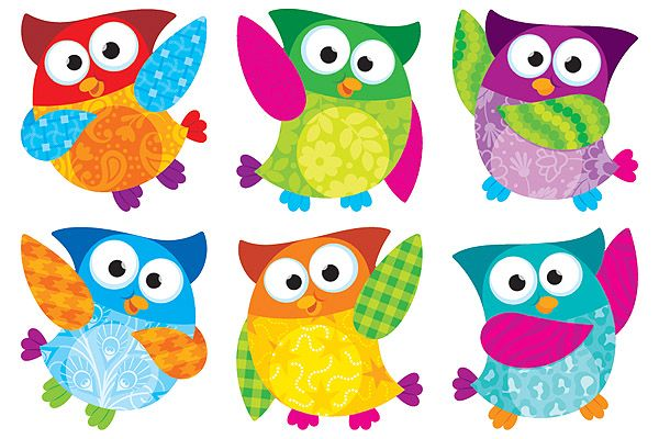 Classroom Ideas With Owls ~ These cute colorful owls are going to become part of my