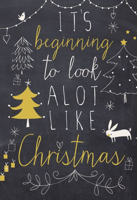 it's beginning to look a lot like christmas   lizzie mackay 2013 illustration