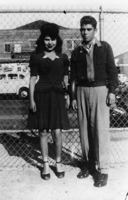 Mexican-American couple, Los Angeles- 1943