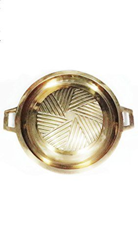 New Brass Theppazab Shop BBQ Grill Thai Style Outdoor Cooking Color Brass Diameter About 30 cm Barbecue Pan >>> ON SALE Check it Out