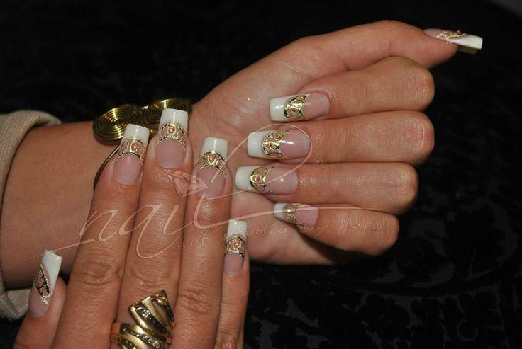 bridal nail art manicure