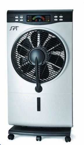 Sunpentown SF-1515W NA Misting Fan 120V Indoor Fine Mist Air Cooler with Humidifier and 3 Fan Speeds SF-1515W by Sunpentown SPT. $106.48. - Computer-controlled system with LED panel and remote  - 9 hours timer. - 3 fan speeds - Modes: Natural, Normal, Sleep. - Ultrasonic humidifier, misting fan and normal fan in one - Humidifier operates independently or with fan. - 360° rotating louver - Casters for easy mobility - ETL. Specifications: Input voltage: 120V / 6...
