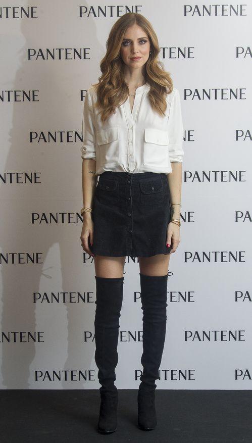Chiara Feragani à la présentation Pantene