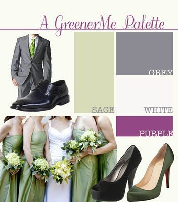 green and gray wedding color schemes | ... + Paper Goods + Design: wedding update - picked the colors & dj