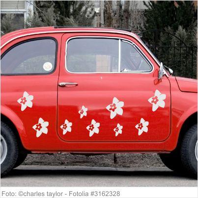 Autoaufkleber Blumen - 10er Set - Motiv 12