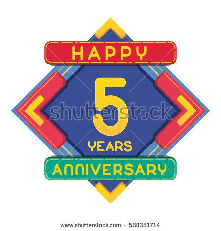 5 Years Anniversary Celebration Design.
