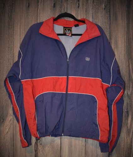 132d8efd6 Rare-Vintage-JCPenney-USA-Olympic-Brand-Apparel-Windbreaker-Size-L ...