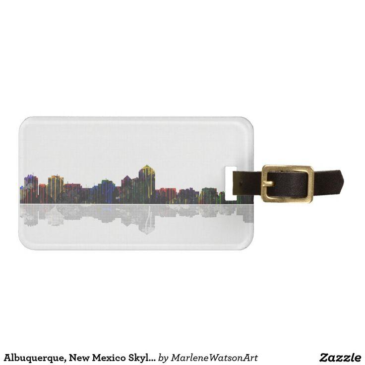 Albuquerque, New Mexico Skyline Travel Bag Tags