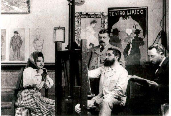 En 1897 se convocó el primer concurso de cartelería de Anís del Mono, que ganó el gran pintor y cartelista Ramon Casas #Arte #Pintura #Modernismo