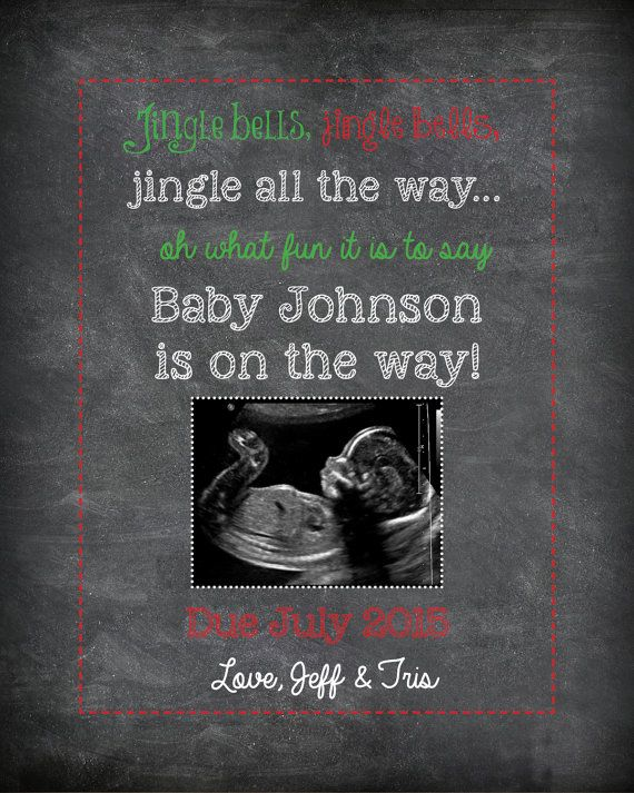 Best 25 Holiday pregnancy announcement ideas – Holiday Baby Announcements