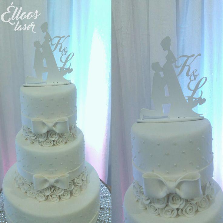 Topo de bolo noivinhos. Lindo! #wedding