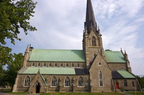 Photo of the exterior of the Christ Church Cathedral in downtown Fredericton in New Brunswick, Canada.