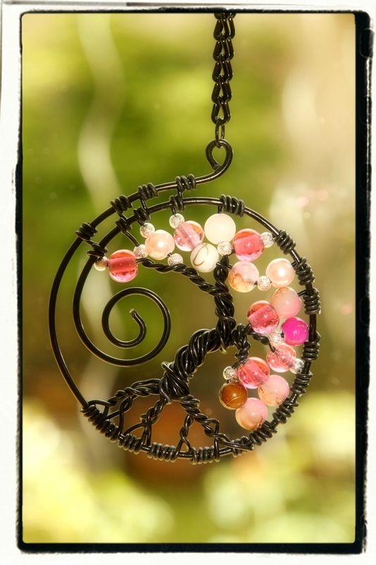 Arbre de vie noir et rose                                                       …
