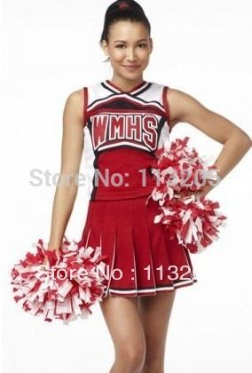 2016 mujeres rojas de béisbol uniformes de porristas EE.UU. baloncesto cheeleading tamaño traje s/m envío gratis