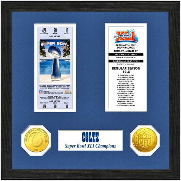Indianapolis Colts Super Bowl Ticket Collection Wall Frame - $49.99