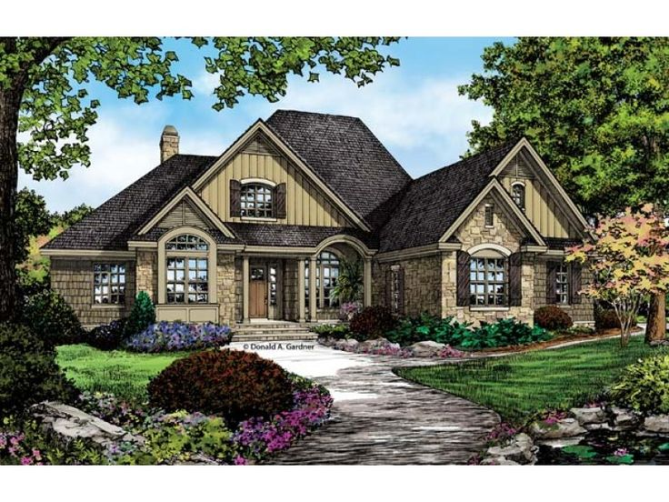 Country house plan with 2324 square feet and 4 bedrooms for Home source com