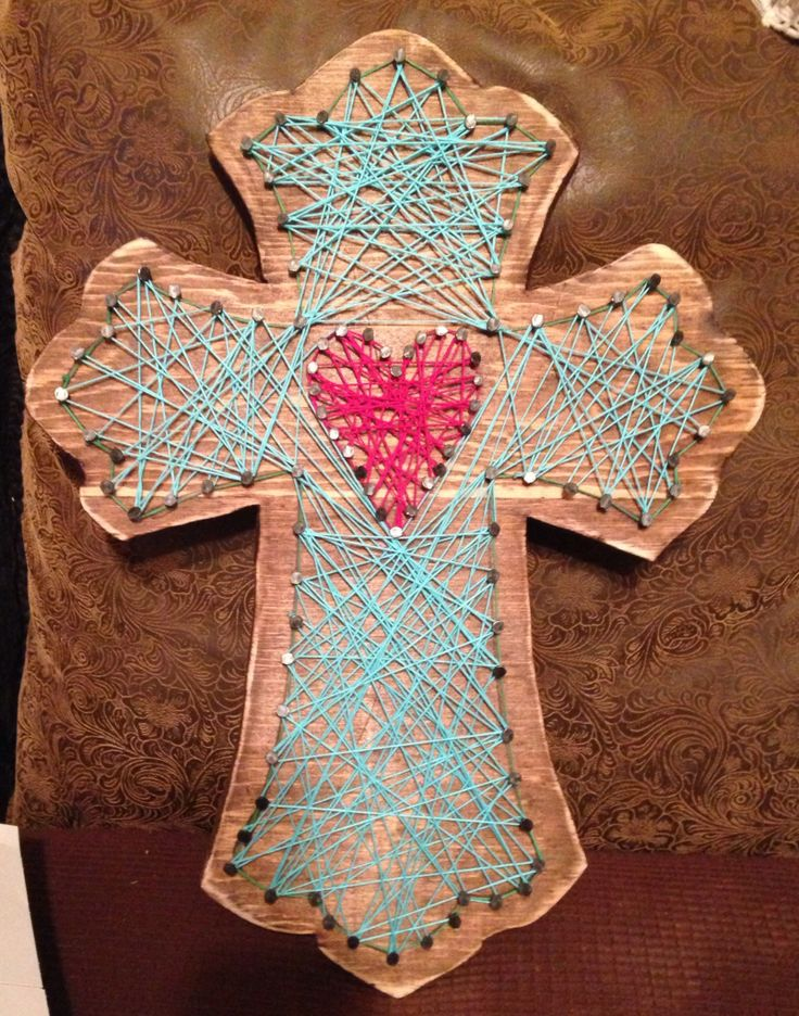 Nail String Art Cross Wife And I Had Fun Making This
