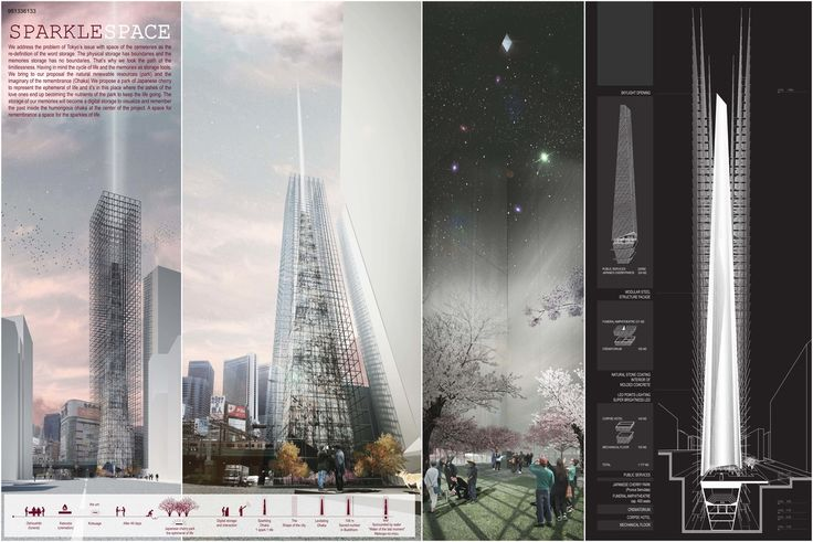 """"""" SPARKLESPACE """" - Tokyo Vertical Cemetery competition finalist"""