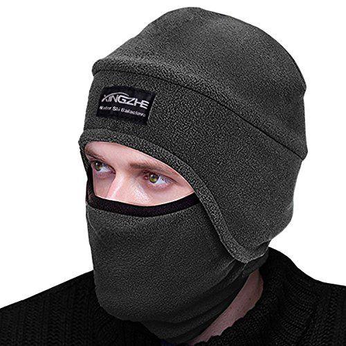 Winter Thermal Hats-Balaclava Fleece Hood-Windproof Ski Mask -KID Women&Men-Heavyweight Cold Weather Winter Motorcycle Ski & Snowboard Gear (Grey M)