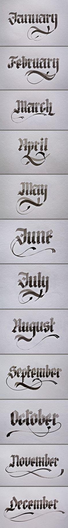 calligraphy 2012
