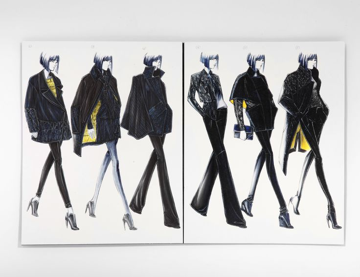 Fashion Sketchbook - fashion design drawings, fashion sketches, fashion portfolio // Arthur Thammavong
